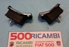 FIAT 500 F/L/R 126 COPPIA SUPPORTI CAMBIO TASSELLO ELASTICO GOMMINI ANTERIORE