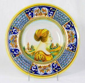 DERUTA  Dipinto A Mano Pottery Plate wall decor Renaissance Woman portrait