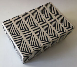 DECORATIVE COLORFUL GIFT/STORAGE BOX, Recycled paper - SM Butcher Paper/Black