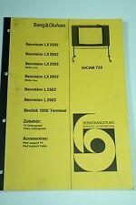 Bang & Olufsen Beovision L / LX 2502 / 2802 / Beolink 1000 Service Manual