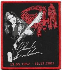 DEATH Chuck Schuldiner - Limited edition patch -WOVEN SEW ON PATCH-free shipping