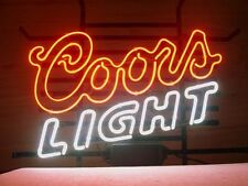 """New Coors Light Beer Real Glass Handmade Neon Sign 24""""x20"""""""