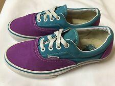 VANS ERA SHOES Men's 6 Women's 7.5 skate Purple and Teal canvas waffle gum sole