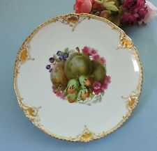 KPM Berlin/ Meissen type Plate hand painted nuts and flowers