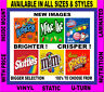 6 Vinyl Peel and Stick 3.25 x 3.25 Bulk Vending Labels