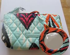 Vera Bradley Pueblo Mirror Cosmetic Case- Southwest pattern  attached mirror