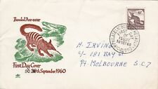 Afd2152) Australia 1960 Fdc Royal, Banded Ant Eater, green & brown cachet, addre