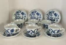 VINTAGE Blue Danube (Japan)  SIX Cups and Saucers ~ Blue Onion Design ~