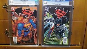 Superman Batman #1 (2003) cover A and B 9.6 CGC