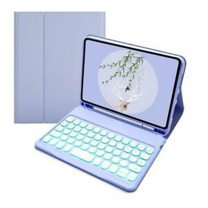 """Leather Bluetooth Keyboard Case Cover Pencil Holder For iPad mini 6th gen 8.3"""""""
