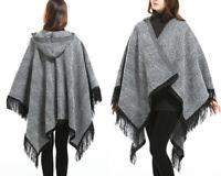 AU SELLER Blanket Poncho Hood Cloak Cape Parka Coat Oversize Warm SHAWL t067