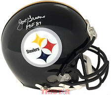 Joe Greene Pittsburgh Steelers Signed ProLine Helmet Inscribed HOF 87 TRISTAR