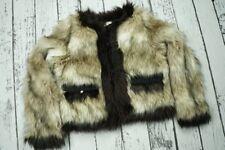 LANVIN x H&M Ivory Brown Faux Fur Jacket Coat Size L US10 US 10