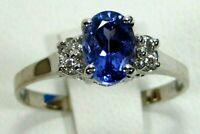 Rare Tanzanite Ring 18K White gold Solitaire GIA Appraised Heirloom AAA+ $3,662
