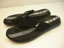 2007 Nike Celso Thong Plus Sandals Black White Swoosh Men's 8 Womens 9 Flip-Flop