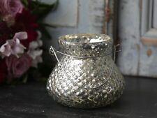 Chic Antique Windlicht / Teelichthalter Glas Bauernsilber , Orient orientalisch,