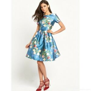 Chi Chi London Floral Skater Midi Occasion Prom Dress BNWT NEW Multiple Sizes