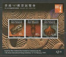 New Zealand 1997 Hong Kong '97 ss--Attractive Art Topical (1333a) MNH