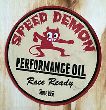 "Oldschool Aufkleber "" Speed Demon "" Devil US Car Sticker / V8 Muscle Car USA"