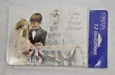 "Vtg Bridal Shower Cards ""Come to a Bridal Shower"" Carlton Cards 12 Invitations"
