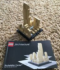 LEGO ARCHITECTURE ROCKEFELLER CENTER 21007 100% COMPLETE INSTRUCTIONS NY CITY