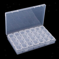 28x Plastic Storage Box Case Clear Organizer Beads Earring Jewelry Container