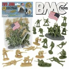 BMC 1/32nd 54mm World War IWO JIMA Plastic Soldiers Set Marines Japanese NEW!!