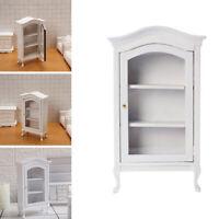 1:12 Dollhouse Miniature Furniture Cupboard Doll House Decor Birch Wood Wine