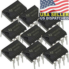 10x TEXAS INSTRUMENTS, NE555N, NE555, NE555P Timer/Oscillator (Single) IC 100kH