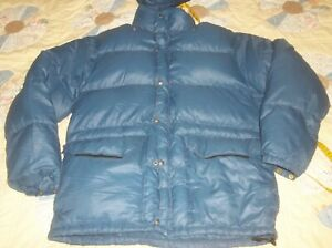 The North Face Sierra Brown Label Goose Down Jacket Puffer 70's Nuptse USA LARGE