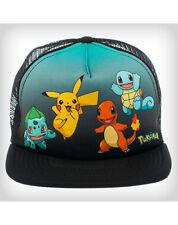 New Pokemon Group Shot Trucker Bioworld Snapback Cap Hat