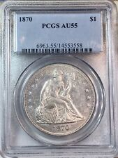 1870 Seated Liberty Dollar $1 AU-55 PCGS