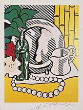 ROY LICHTENSTEIN HAND SIGNED SIGNATURE * STILL LIFE WITH FIGURE * PRINT W/C.O.A.