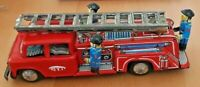 Vintage STI Japan Tin Plate Friction Toy Fire-Engine in Good Working Order