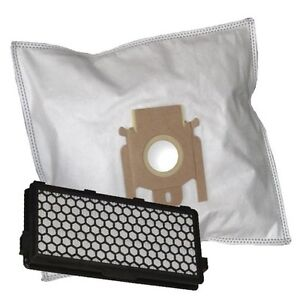 10 Vacuum Cleaner Filter Bag + Hepa Filter Suitable For Miele S 8730 S8730