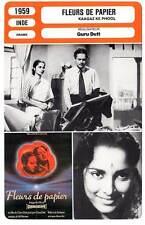 FICHE CINEMA : FLEURS DE PAPIER - Guru Dutt 1959 Paper Flowers