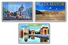 MADRID LOT OF 3 FRIDGE MAGNET SOUVENIR 3 IMANES NEVERA