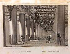 AUDOT INCISIONE IN ACCIAIO 1857 VENEZIA GALLERIA DELL'ARSENALE