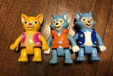 "3 Disney Learning Curve Vintage Special Agent OSO Plastic Figures Lot 3"" Wolfie"
