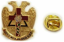 Scottish Rite Knight of the Rose Croix Masonic Tie Tack Jacket Hat Lapel Pin