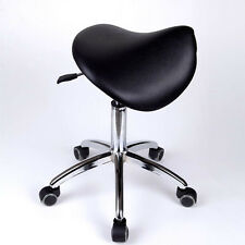 Medico DENTISTA mobile Chair Doctor's SGABELLI SELLA Stile PU Pelle Nero