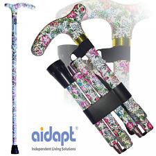 Aidapt Plegable & extensible con dibujos bastón-Clásico Floral - * Calidad *