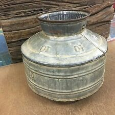 Old Vintage Antique Rusty Handmade Indian Rare Iron Unique Pot Collectible