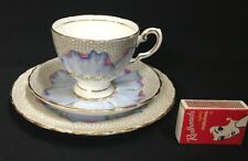 1936-47 TUSCAN BONE CHINA LOTUS (BLUE POPPY) TRIO PATTERN 6359 UNUSED GD COND.