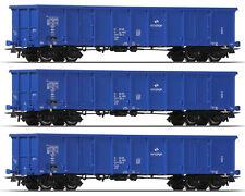 Roco 66498 H0 Offener Güterwagen Eanos PKP Cargo (3 Stück) ++ NEU & OVP ++
