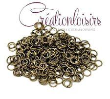100 Anneaux De Jonction 6 mm Couleurs bronze Sans Nickel