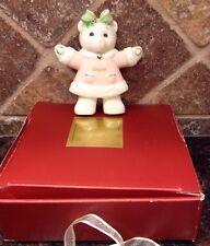 Lenox For The Holidays Teddy Bear Girl W/ Pink Dress Christmas Tree Ornament