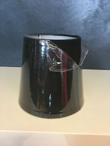 Lampenschirm Baumwolle schwarz Ø13cm/9,5cm H12cm Ersatzschirm Pascal Morgue
