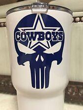 Punisher Dallas Cowboys Decal For Your Yeti Rambler Tumbler