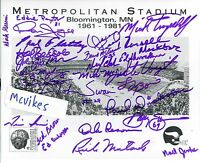 Minnesota Vikings 1961 Last Game Met Autographed Signed 8x10 Print COA DECEASED